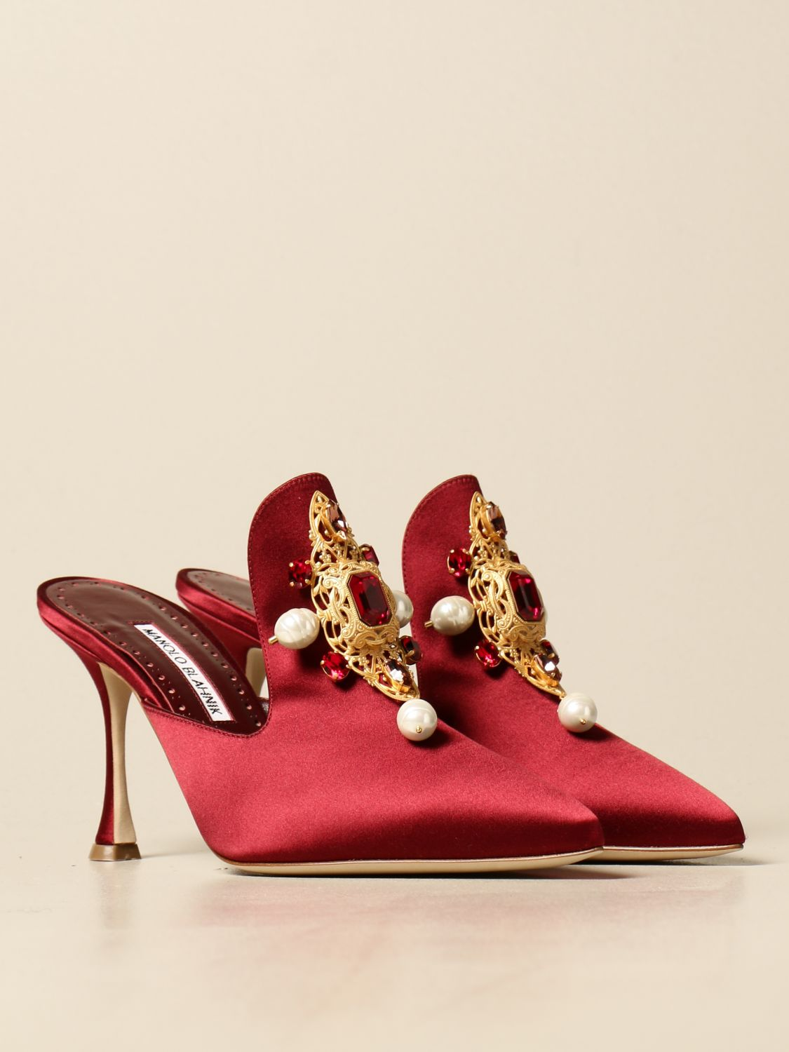 High heel shoes Manolo Blahnik: Shoes women Manolo Blahnik burgundy 2