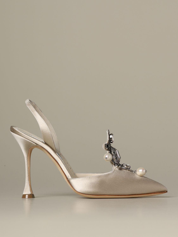 Pumps Manolo Blahnik: Shoes women Manolo Blahnik yellow cream 1