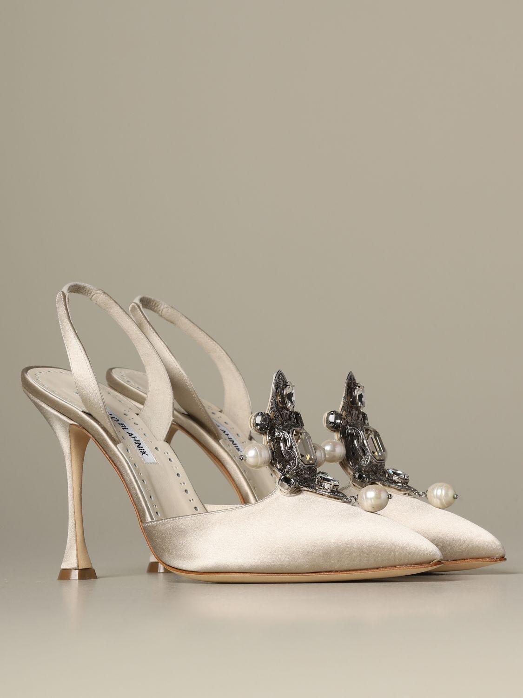 Pumps Manolo Blahnik: Shoes women Manolo Blahnik yellow cream 2