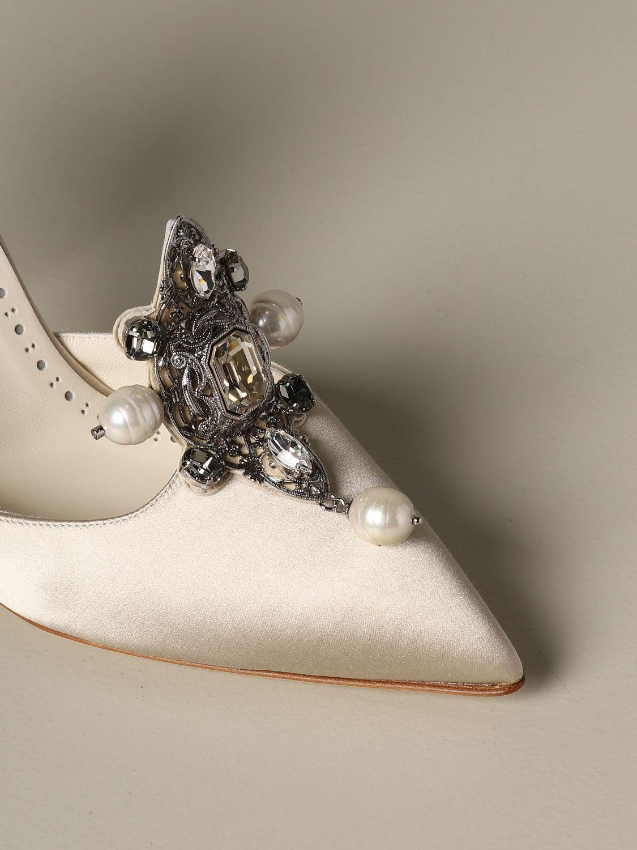 Pumps Manolo Blahnik: Shoes women Manolo Blahnik yellow cream 3
