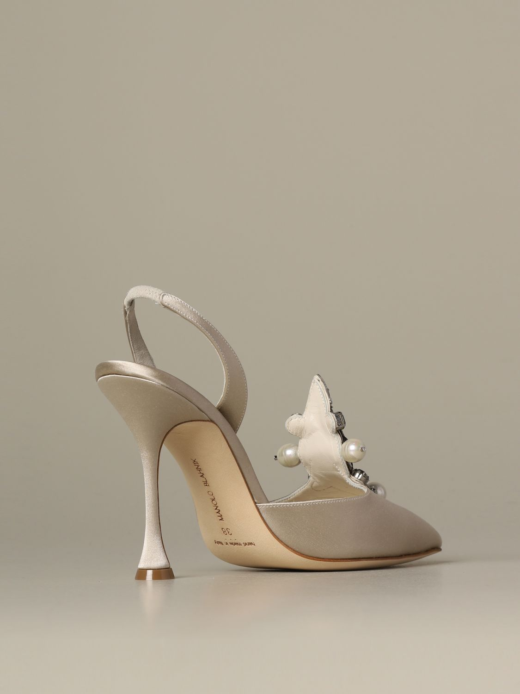 Pumps Manolo Blahnik: Shoes women Manolo Blahnik yellow cream 4