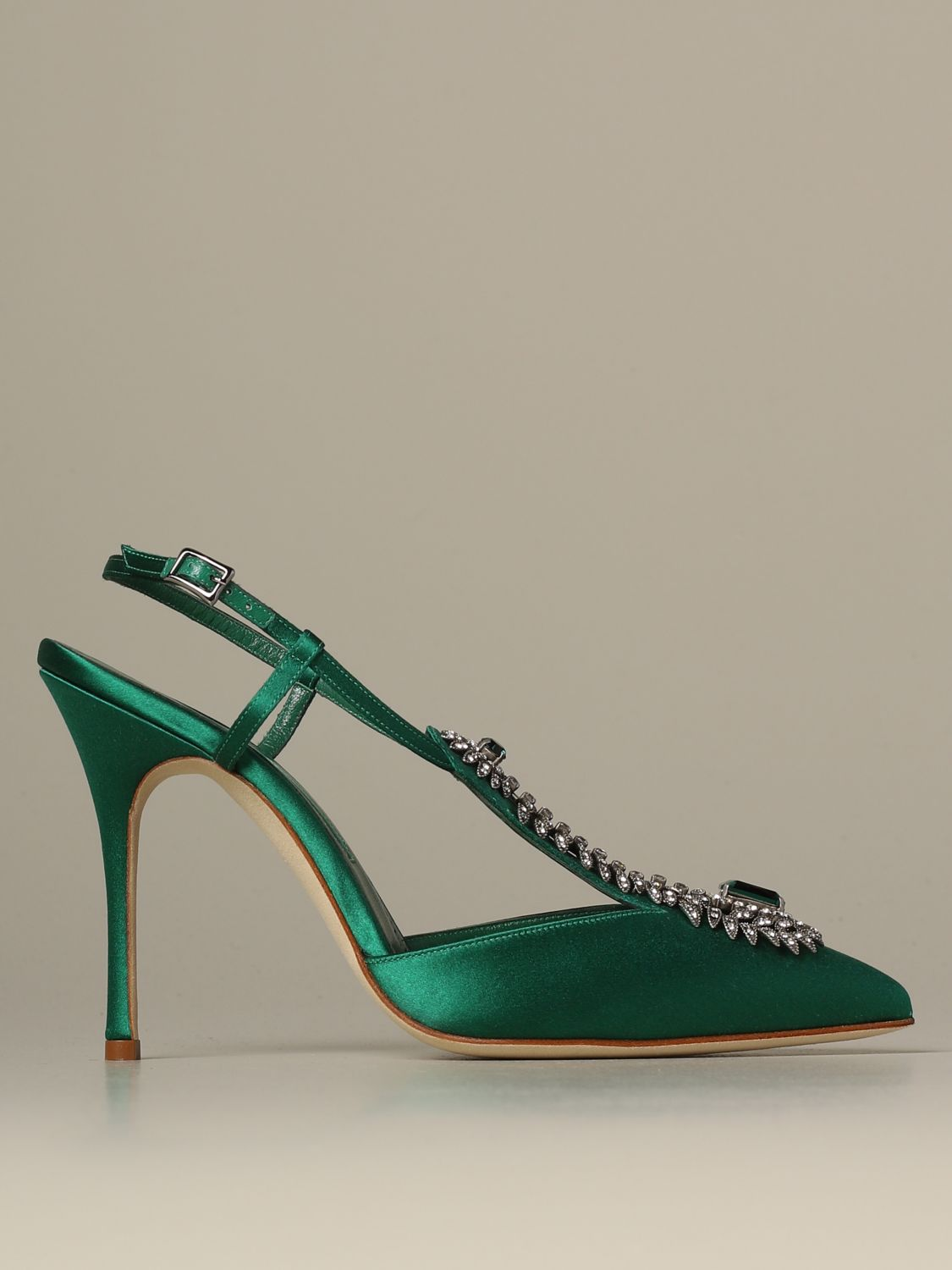 Pumps Manolo Blahnik: Shoes women Manolo Blahnik emerald 1