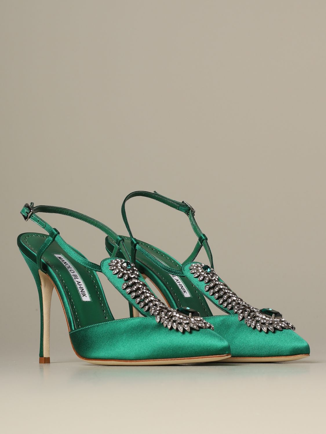 Pumps Manolo Blahnik: Shoes women Manolo Blahnik emerald 2