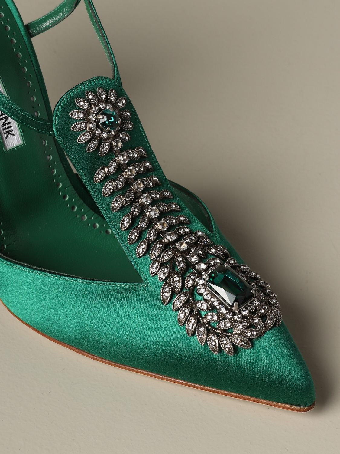 Pumps Manolo Blahnik: Shoes women Manolo Blahnik emerald 3