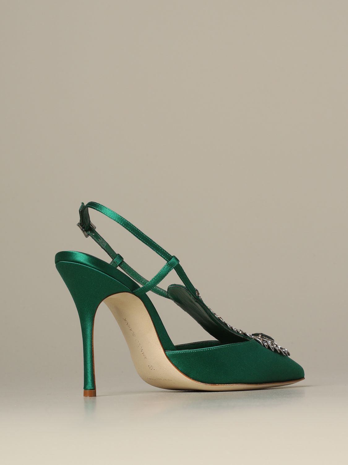Pumps Manolo Blahnik: Shoes women Manolo Blahnik emerald 4