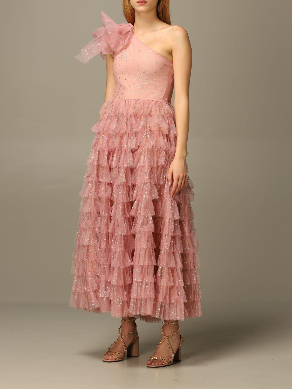 Платье Red Valentino: Платье Женское Red Valentino розовый 4