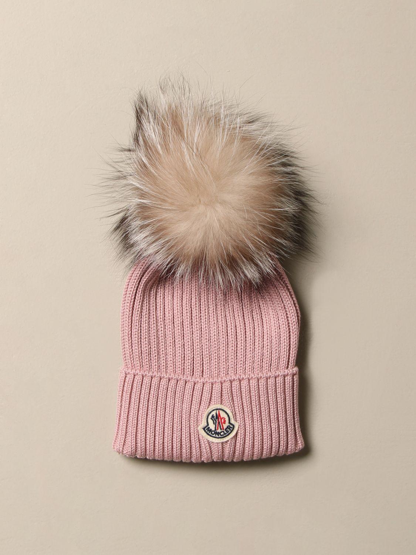 Hat girl Moncler: Hat girl kids Moncler pink 1