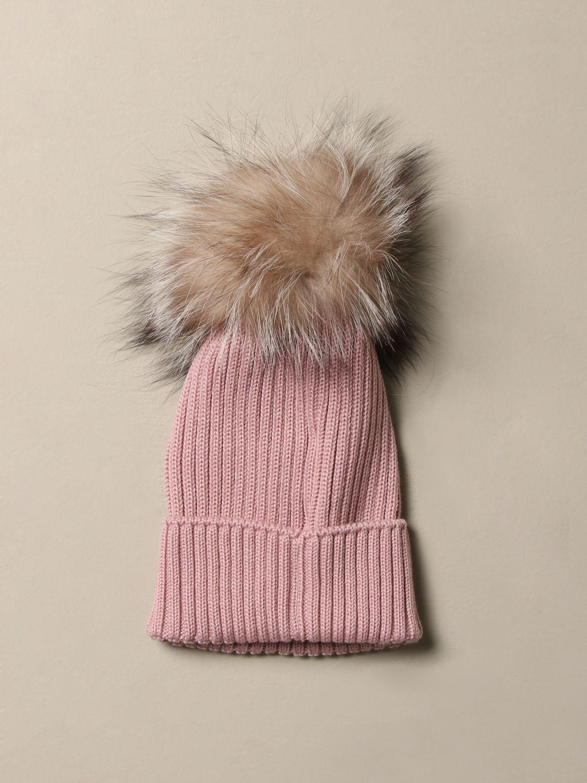 Hat girl Moncler: Hat girl kids Moncler pink 2