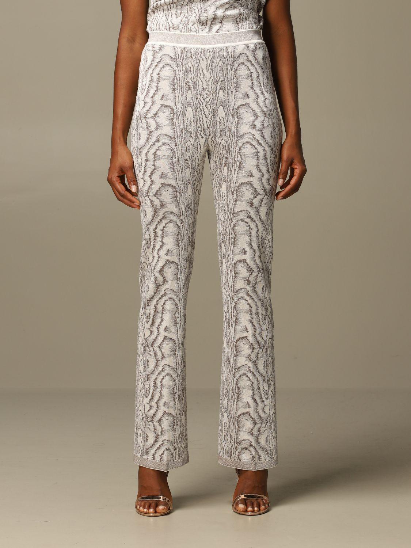 Pantalone Missoni: Pantalone Missoni ampio in viscosa marmorizzata panna 1