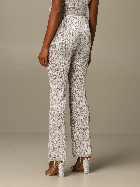 Pantalone Missoni: Pantalone Missoni ampio in viscosa marmorizzata panna 3