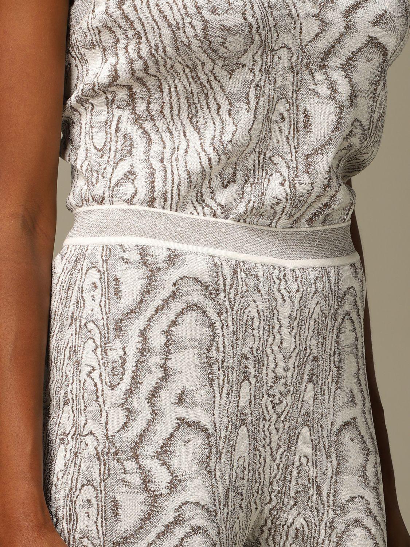 Pantalone Missoni: Pantalone Missoni ampio in viscosa marmorizzata panna 5