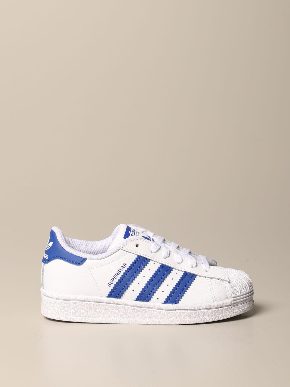 Scarpe Adidas Originals: Sneakers Superstar C Adidas Originals in pelle bianco 1