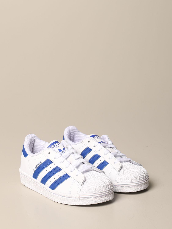 Scarpe Adidas Originals: Sneakers Superstar C Adidas Originals in pelle bianco 2