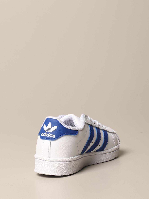Scarpe Adidas Originals: Sneakers Superstar C Adidas Originals in pelle bianco 3
