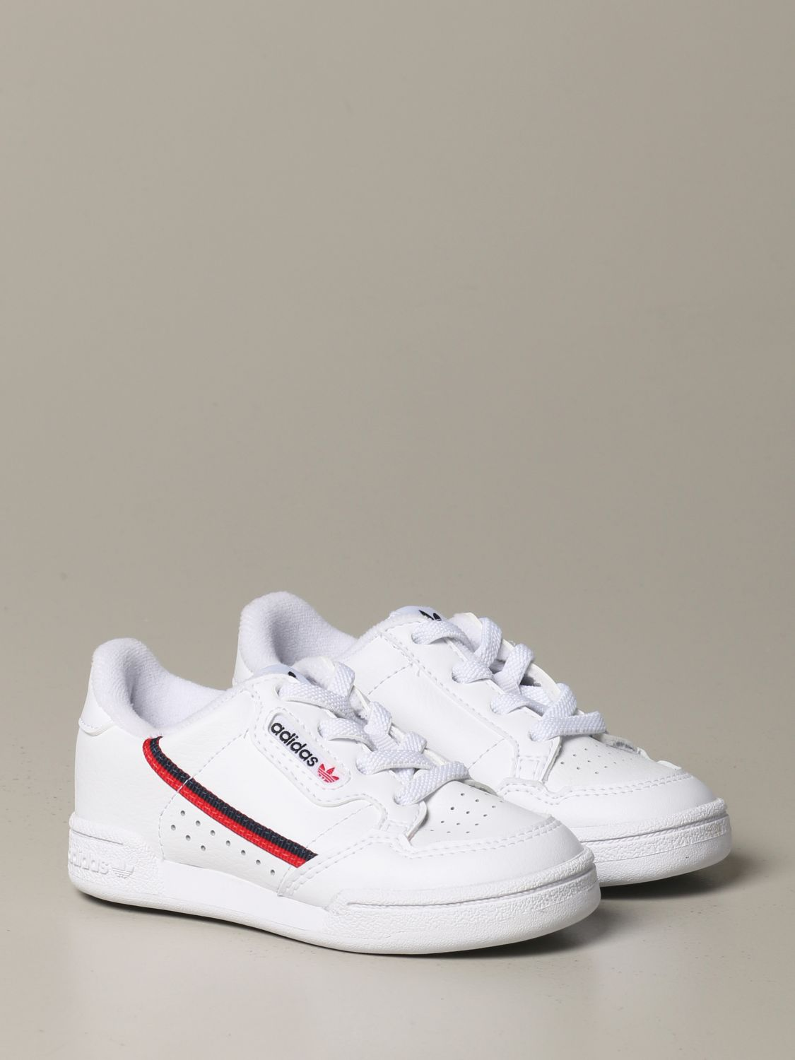 Shoes Adidas Originals: Continental 80 Adidas Originals leather sneakers white 2