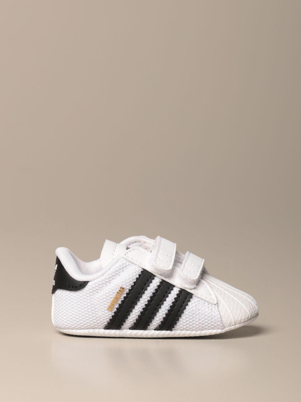 Scarpe Adidas Originals: Sneakers Superstar Adidas Originals in pelle e rete bianco 1