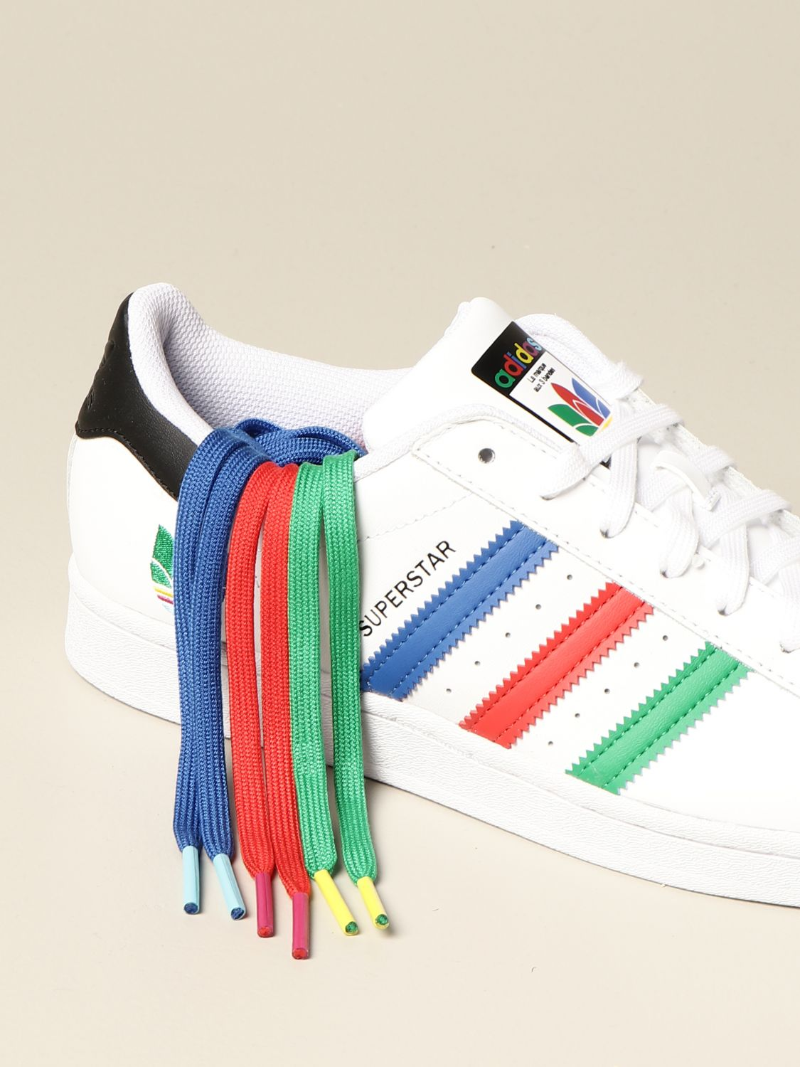 Adidas Originals Superstar sneakers in leather with multicolor clover