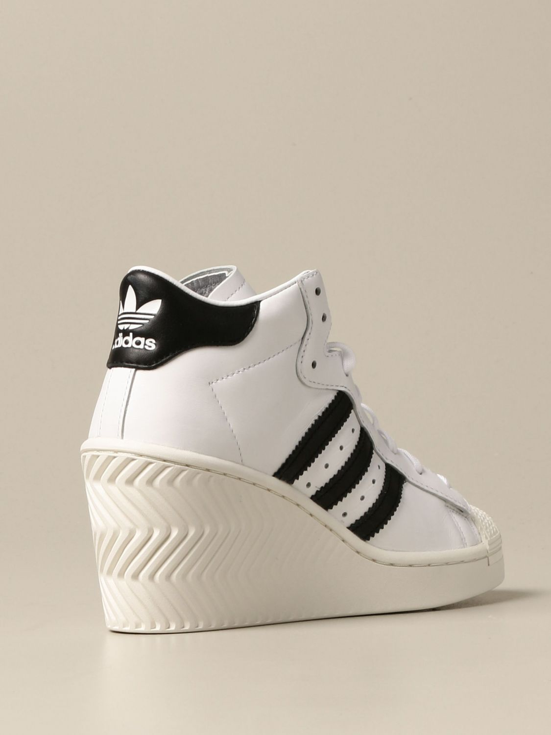 Adidas Originals Outlet: Superstar Ellure W sneakers in leather ...