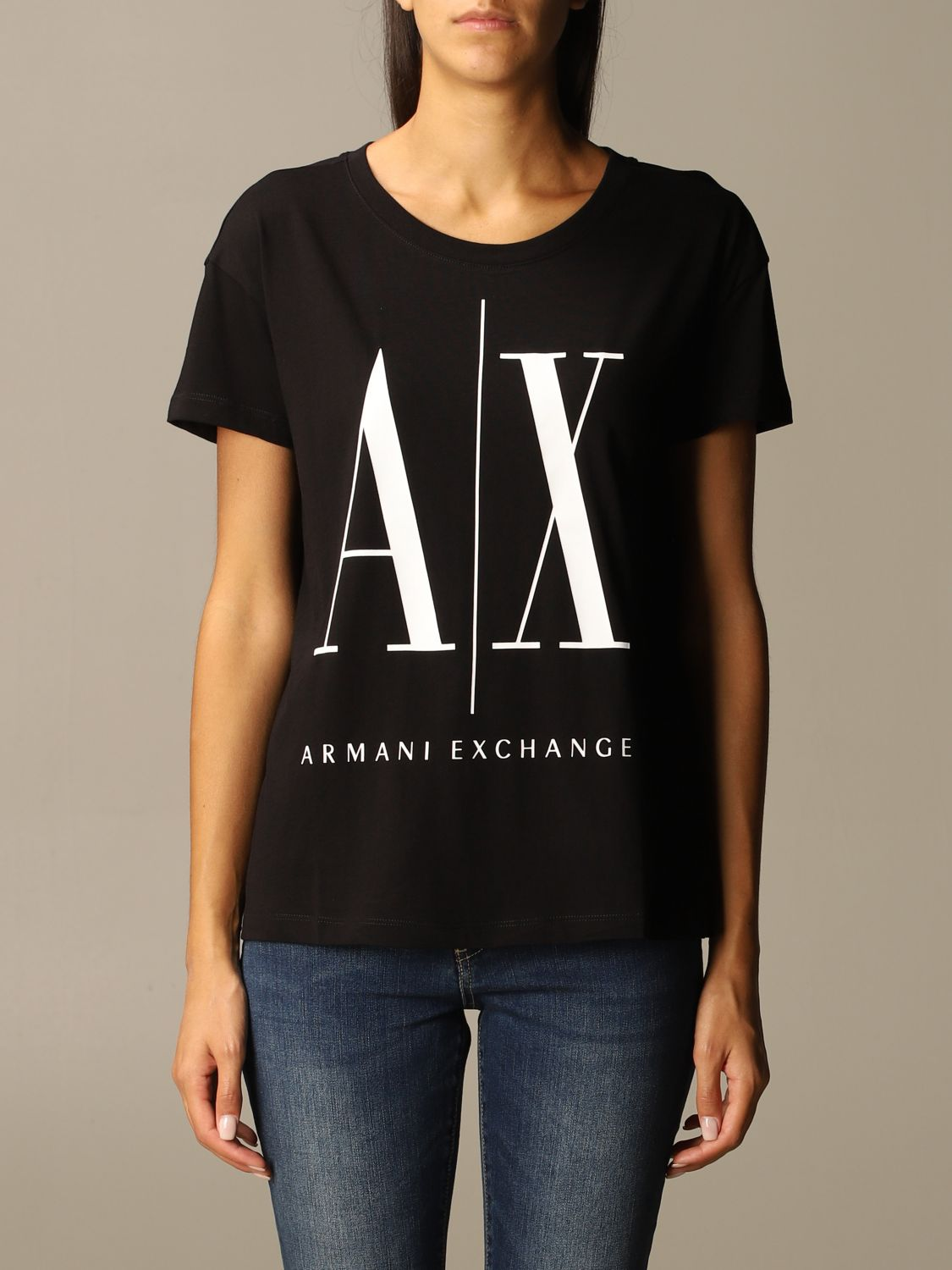 T-Shirt Armani Exchange: T-shirt women Armani Exchange black 1