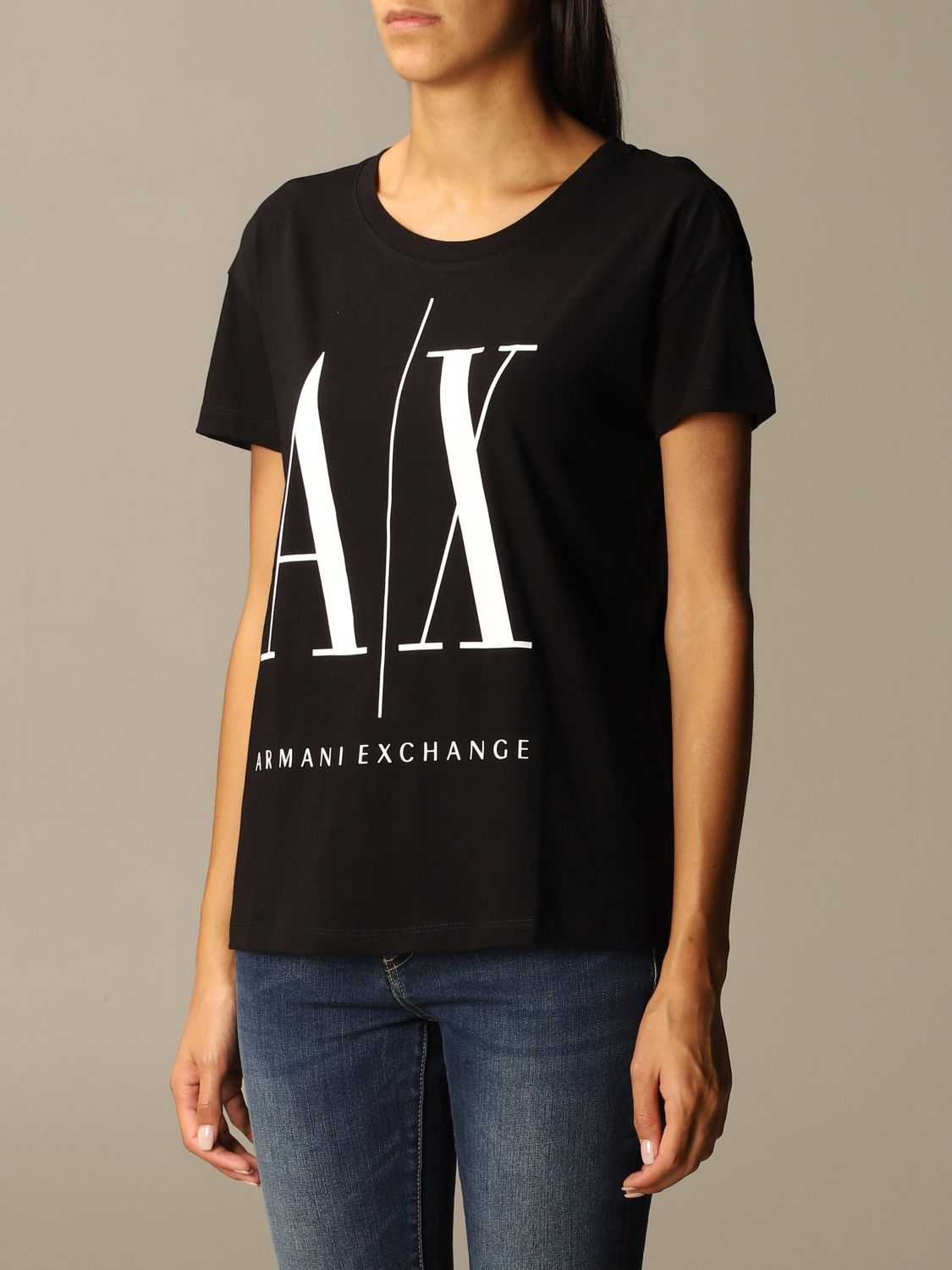 T-Shirt Armani Exchange: T-shirt women Armani Exchange black 3