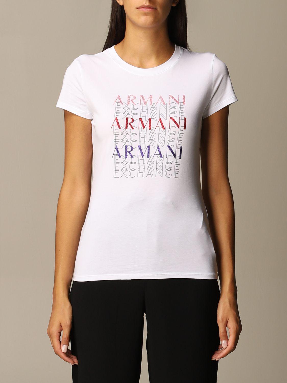 T-Shirt Armani Exchange: T-shirt women Armani Exchange white 1