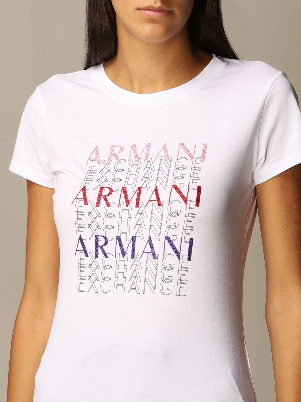 T-Shirt Armani Exchange: T-shirt women Armani Exchange white 3
