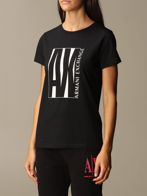 T-Shirt Armani Exchange: T-shirt women Armani Exchange black 3