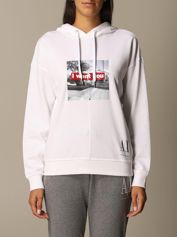 Sweatshirt Armani Exchange: Sweatshirt women Armani Exchange white 1