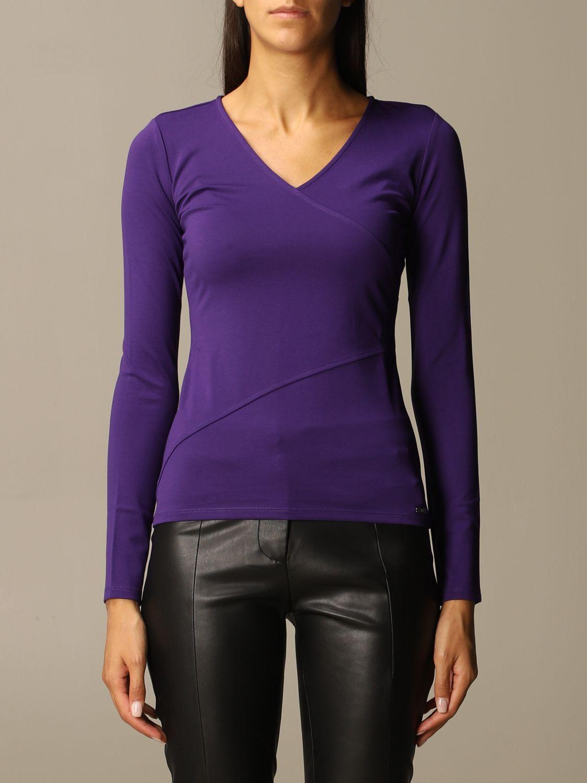 T-Shirt Armani Exchange: Top women Armani Exchange violet 1
