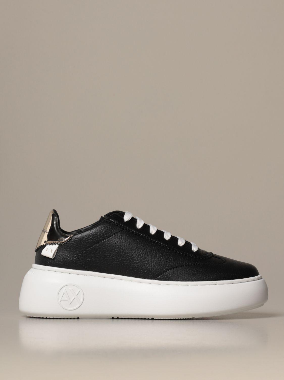 运动鞋 Armani Exchange: 鞋 女士 Armani Exchange 黑色 1