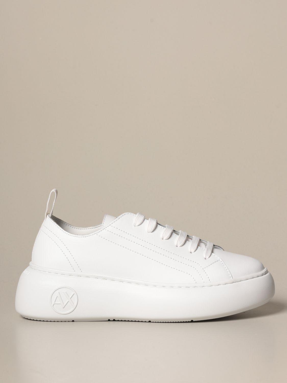 Baskets Armani Exchange: Chaussures femme Armani Exchange blanc 1