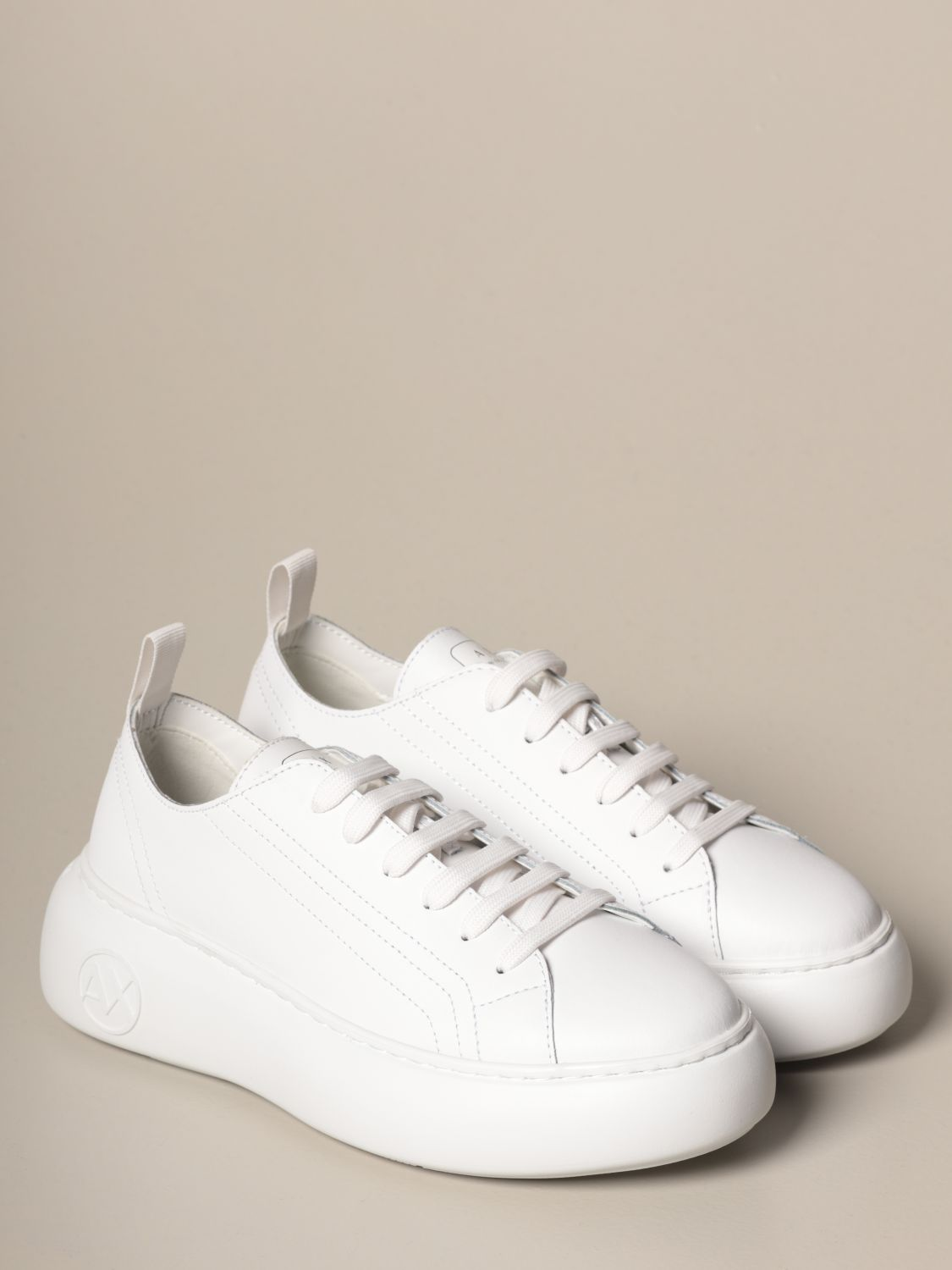 Sneakers Armani Exchange: Shoes women Armani Exchange white 2