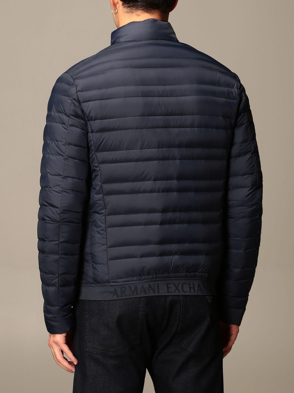 Jacket Armani Exchange: Armani Exchange light down jacket with zip navy 2