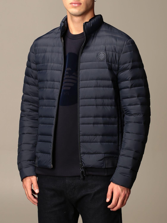 Jacket Armani Exchange: Armani Exchange light down jacket with zip navy 3
