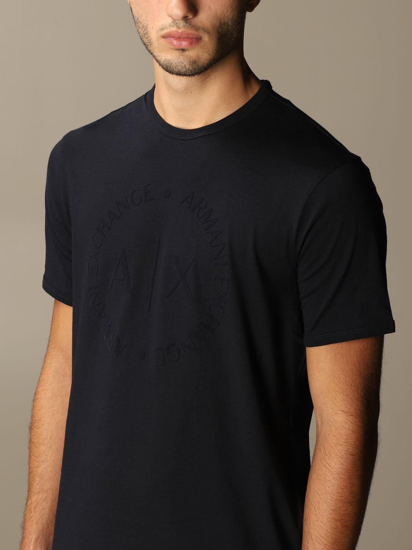 T-shirt Armani Exchange: Armani Exchange cotton t-shirt with logo blue 3