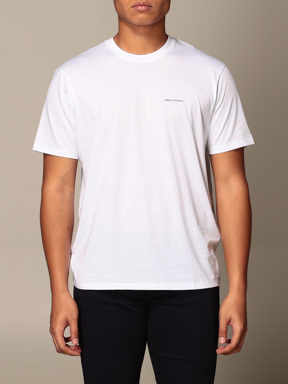 T-shirt Armani Exchange: Half sleeve crew neck with basic logo white 1