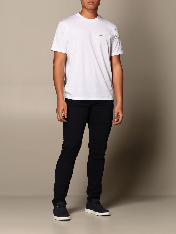 T-shirt Armani Exchange: Half sleeve crew neck with basic logo white 2
