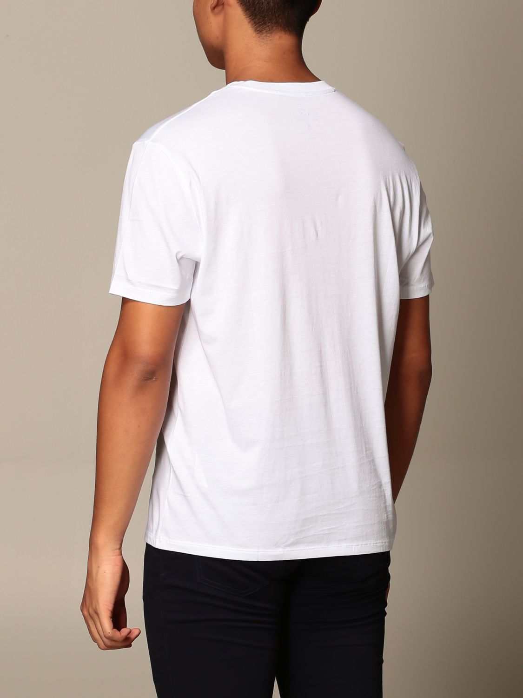 T-shirt Armani Exchange: Half sleeve crew neck with basic logo white 3