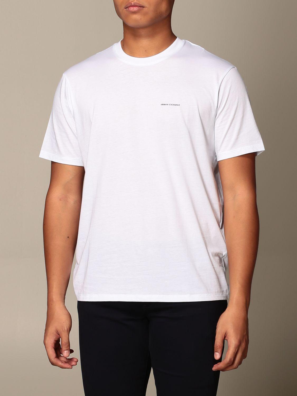 T-shirt Armani Exchange: Half sleeve crew neck with basic logo white 4