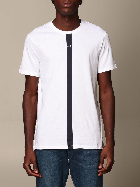 T-Shirt Armani Exchange: T-shirt herren Armani Exchange weiß 1