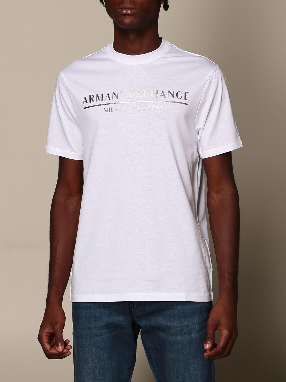 T-shirt Armani Exchange: T-shirt Armani Exchange con logo bianco 4