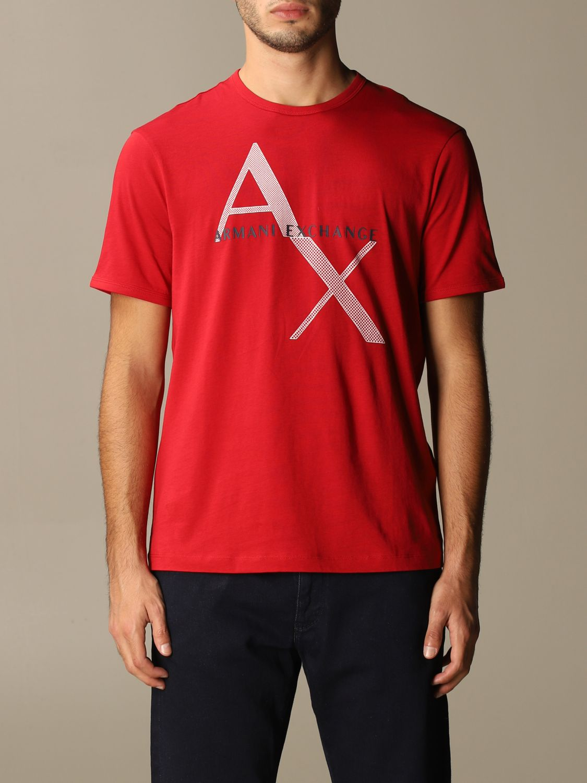 T-shirt Armani Exchange: T-shirt homme Armani Exchange rouge 1