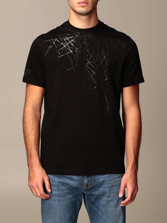 T-shirt Armani Exchange: Armani Exchange cotton T-shirt with geometric print black 1