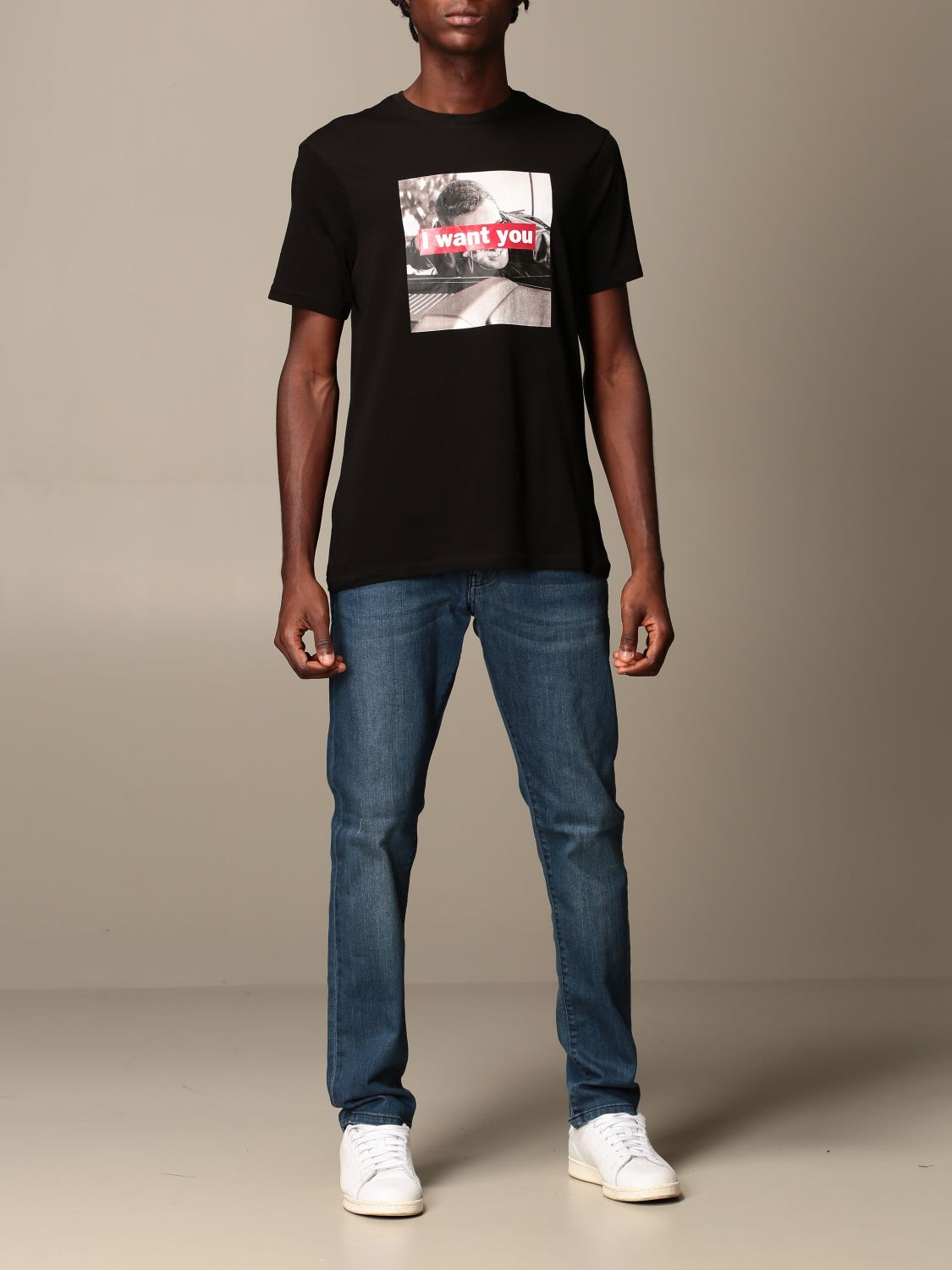 T-shirt Armani Exchange: Armani Exchange T-shirt with I want you print black 2