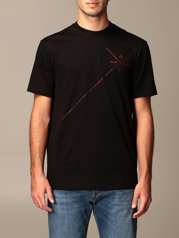 T-shirt Armani Exchange: Armani Exchange cotton t-shirt with logo black 1