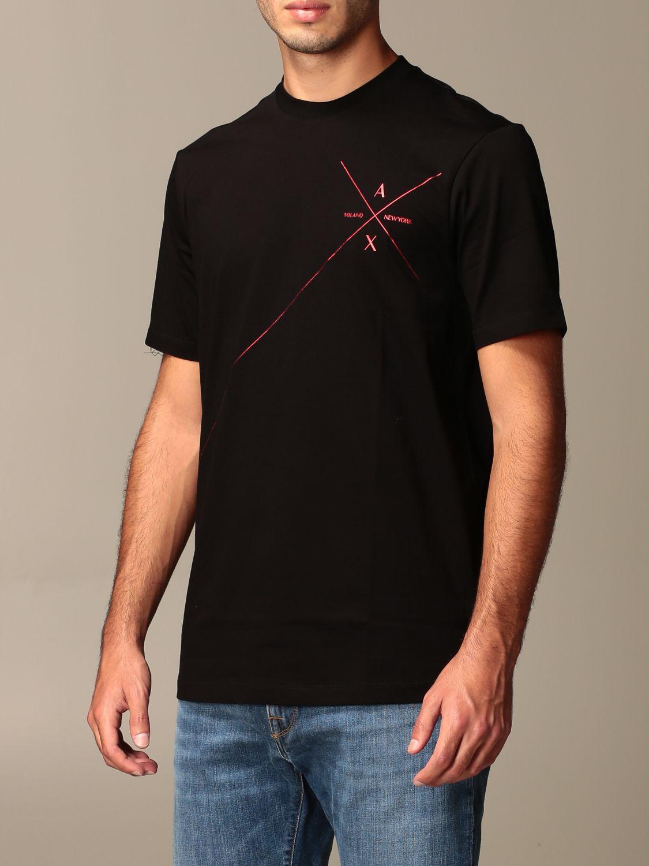 T-shirt Armani Exchange: Armani Exchange cotton t-shirt with logo black 3