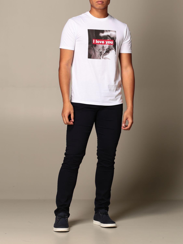 T-shirt Armani Exchange: T-shirt Armani Exchange con stampa i love you bianco 2
