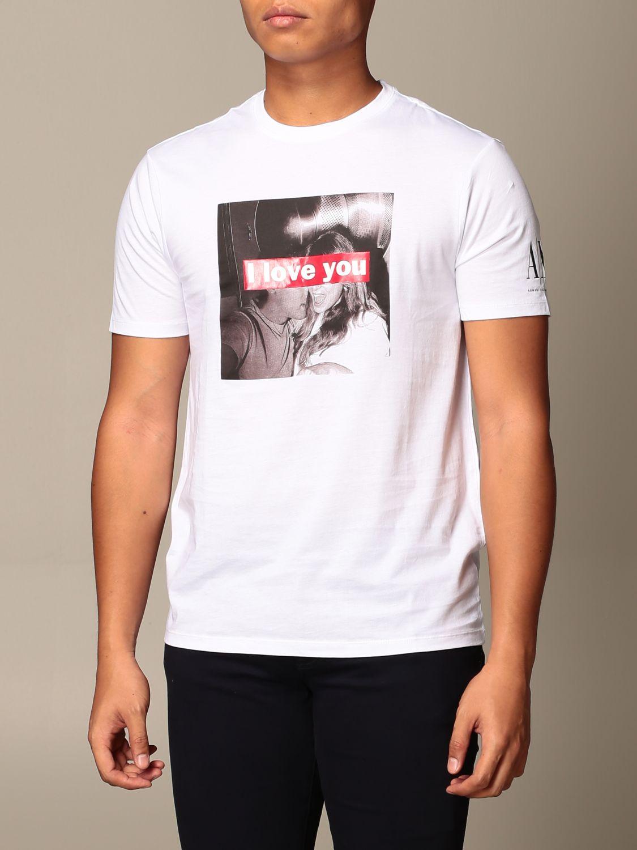 T-shirt Armani Exchange: T-shirt Armani Exchange con stampa i love you bianco 4