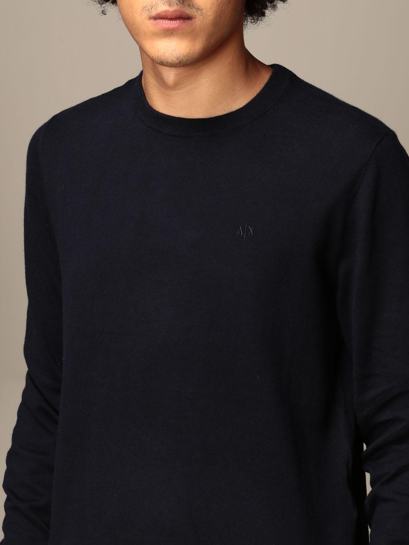 Sweater Armani Exchange: Cashmere blend wool crewneck navy 3