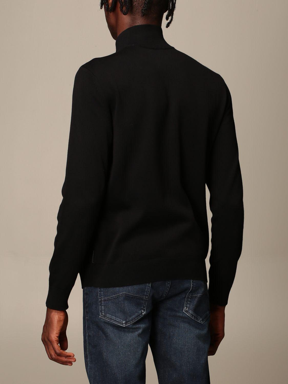 Cardigan Armani Exchange: Full zip basic wool black 2